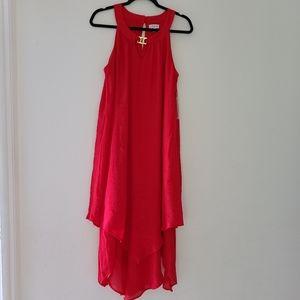 LUXOLOGY LONG RED dress